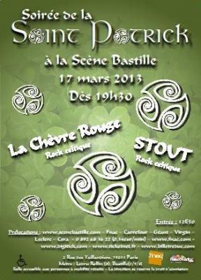 Soirée spéciale Saint-Patrick : STOUT et La Chèvre Rouge en concert
