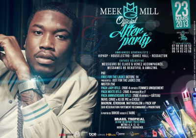 ?? Meek-Mill Official After Party ?? Au Brasil Tropical ?? By Esprit De Paris