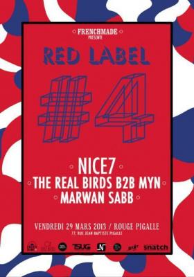 Red Label #4 w/ Nice7, The RealBirds, Myn & Marwan Sabb
