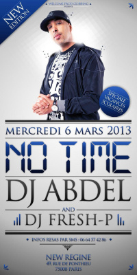 Ce mercredi 06/03, NO TIME, NEW EDITION