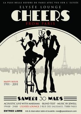 Cheers From Paris, la plus belle before de Paris avec vue sur l' Elysée