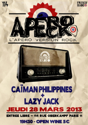 Les Apérocks #4 @ 114 OPEN WINE & w/ CAÏMAN PHILIPPINES + LAZY JACK