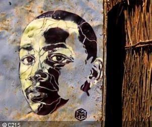 Pochoir de l'artiste C215, Senegal.