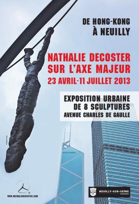 """Exposition urbaine """"De Hong-Kong à Neuilly"""" de Nathalie Decoster de l'Etoile à la Défense"""