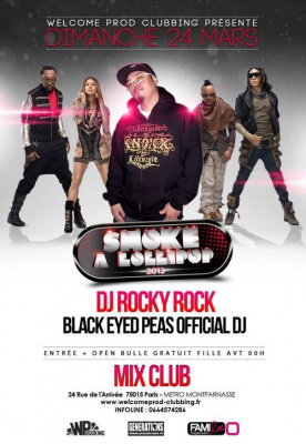 Black Eyed Peas Official DJ ROCKY ROCK After Party @ MIX CLUB