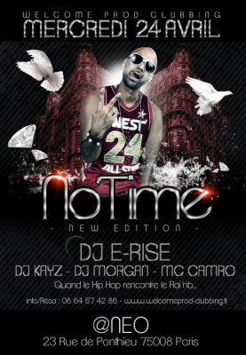 NO TIME NEW EDITION speciale DJ E-RISE@ NEO