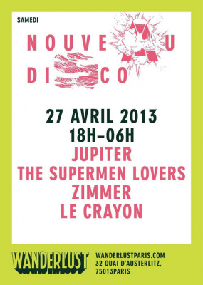 NOUVEAU DISCO w/ JUPITER / ZIMMER / THE SUPERMEN LOVERS / LE CRAYON