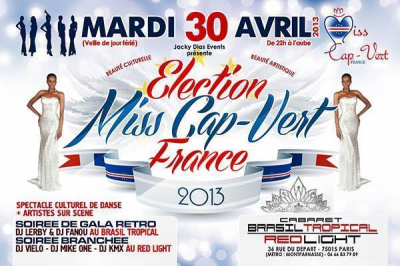 Election Miss Cap-Vert France 2013
