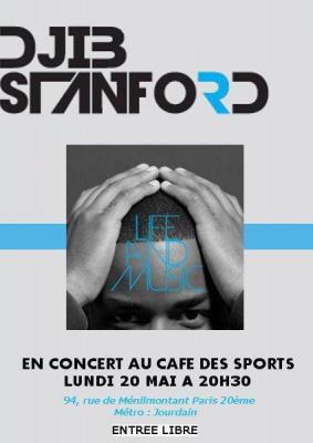 Djib Stanford en concert au Café des Sports