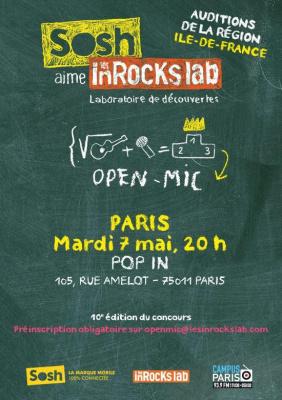 "Open-mics ""Sosh aime les Inrocks lab"""