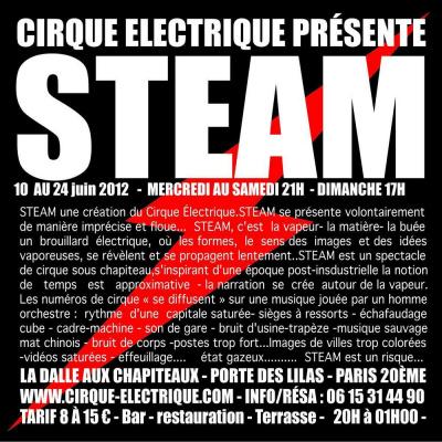Steam, la création du Cirque Electrique