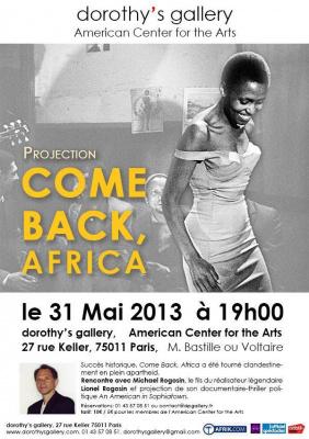 RENCONTRE CINEMA Projection de Come Back, Africa, en présence de Michael Rogosin