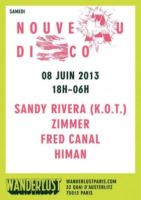 NOUVEAU DISCO avec SANDY RIVERA (K.O.T.) / ZIMMER / FRED CANAL / HIMAN
