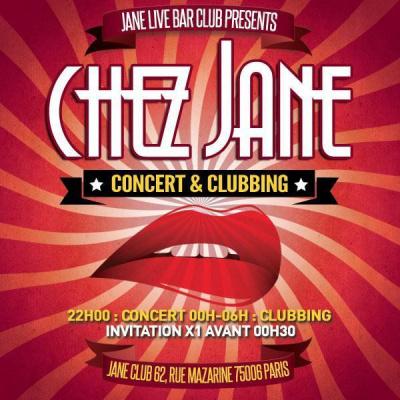 Chez Jane concert et Clubbing