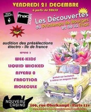 Soirée d'Audition Musiques Electroniques Printemps De Bourges 2008