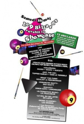 le 9 Billards envahit le Showcase!