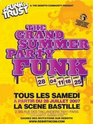 The Grand Summer Party Funk - tous les samedis de l été