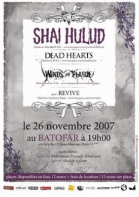 Shai Hulud + Dead Hearts + Winds Of Plague + Guests