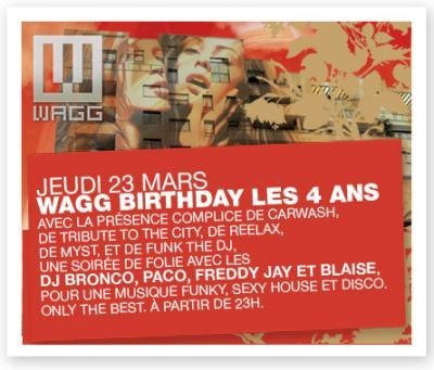 Wagg Birthday les 4 ANS