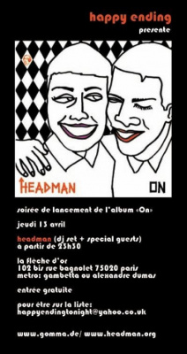 soirée happy ending presente le nouvel album de HEADMAN + l'aftershow mogwai