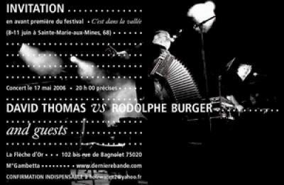 David Thomas vs Rodolphe Burger