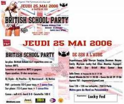 british school party