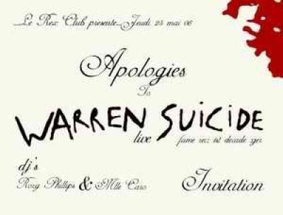 Apologies to Warren Suicide