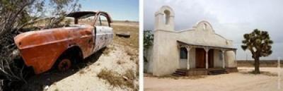 Le desert californien, ... impression