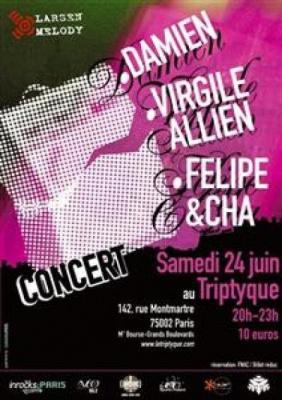 DAMIEN (Record makers) – FELIPE & CHA (Charlotte Savary) – VIRGILE ALLIEN