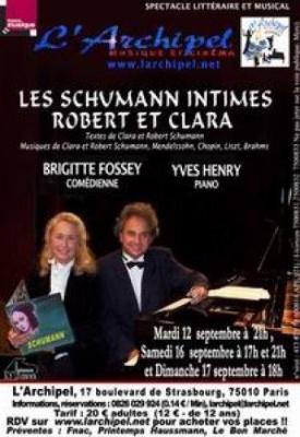 « Robert et clara, Les Schumann intimes »