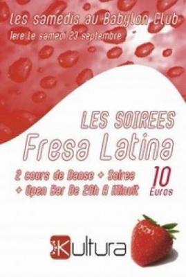 Soirees Fresa Latina