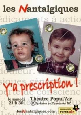 Y a prescription !
