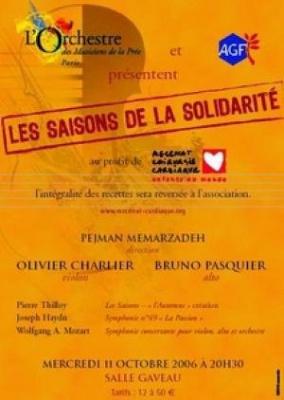 Mecenat Chirurgie Cardiaque, concert Salle Gaveau