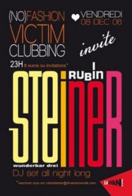 (no) FASHION VICTIM CLUBBING RUBIN STEINER (Dj set)