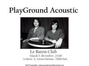 Playground : Accoustic show