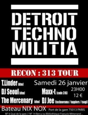 Detroit Techno Milita // Recon:313 Tour