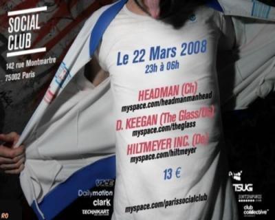 Headman + The Glass DJ Set + Hiltmeyer Inc