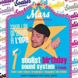 Soulist Birthday Sound System