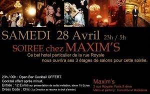 Soirée chez MAXIM'S