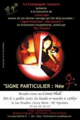 Signe particulier : Née FEMME