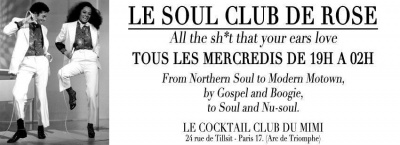 Le Soul Club de Rose @ Le Cocktail Club du Mimi