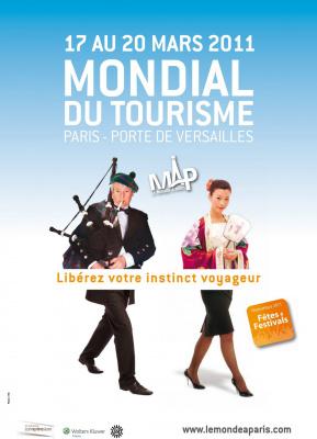 Mondial du tourisme, map