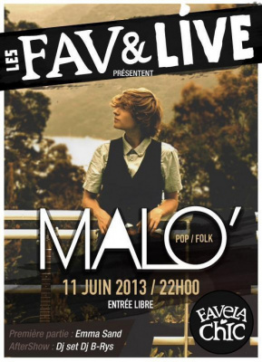 Fav & Live : Malo' en showcase