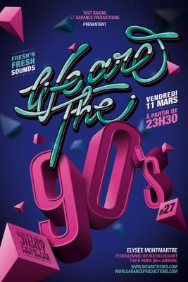 We Are 90's, Soirée, Elysée Montmartre