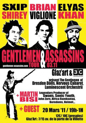 gentlemen assassins, Martin Bisi, glazart, concert