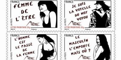 Miss.Tic, timbres, journée de la femme, carré d'encre, Fanny Guillon-Laffaille