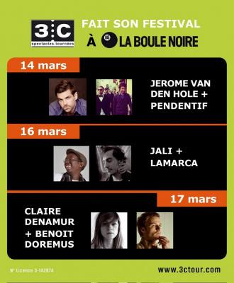 3C Tour, Boule NoireLamarca, Jali, Jérôme Van Den Hole, Benoît Dorémus, Claire Denamur, Pendentif