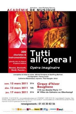 Tutti all opera, Bouglione, Cirque d'hiver