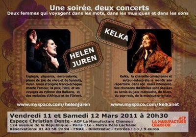 Concerts Co-Plateau Helen Juren + Kelka