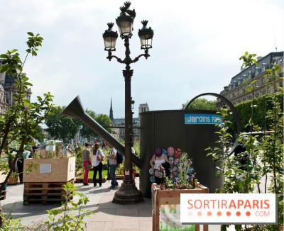Les jardins ph m res sur le parvis de l 39 h tel de ville for Les jardins de villa paris